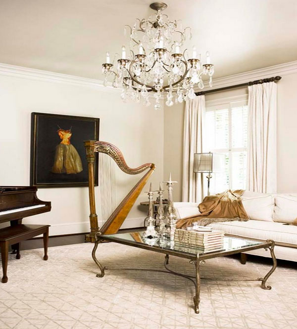 Decorating Design: Decorating With Musical Instruments: Harps