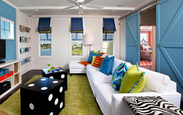 dice cube furnishings and game rooms for a fun filled home. Black Bedroom Furniture Sets. Home Design Ideas