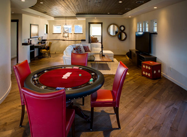 norelco-cabinets-ltd-red-gaming-room-with-dice-cube-stool