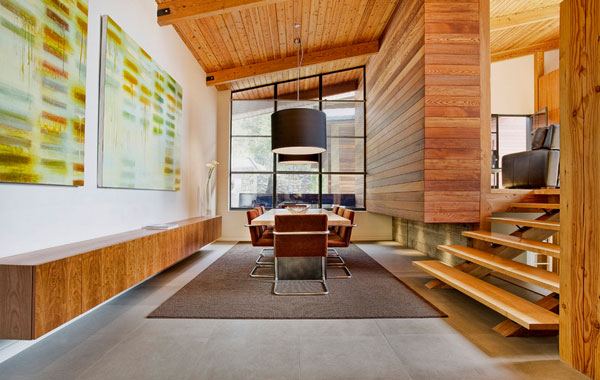 Warm wooden tones in the contemporary home