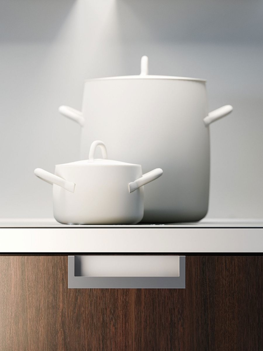 recessed and invisible storgae options in kitchen