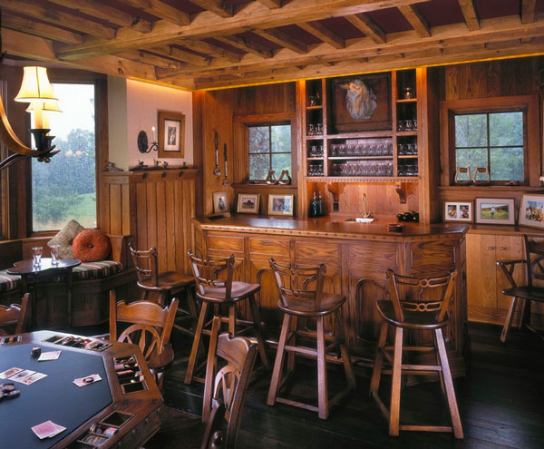 rwa-architects-cabin-home-game-room-with-wood-poker-table