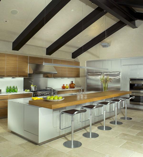 Creamy beige sandstone in the kitchen