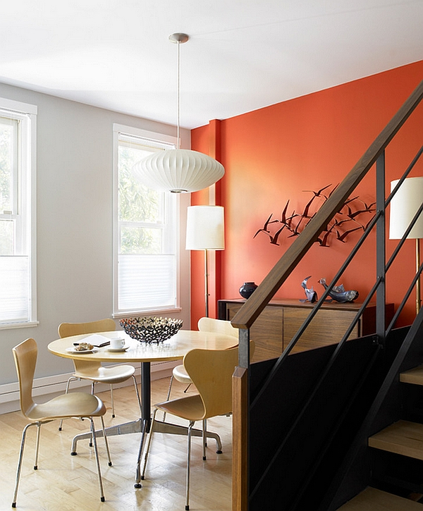 Dining Room Orange: Birds-Inspired Home Decorations: Prints, Wallpaper And