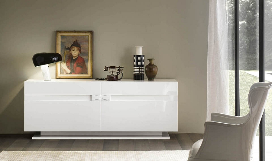 sideboard designs served with modern flair. Black Bedroom Furniture Sets. Home Design Ideas