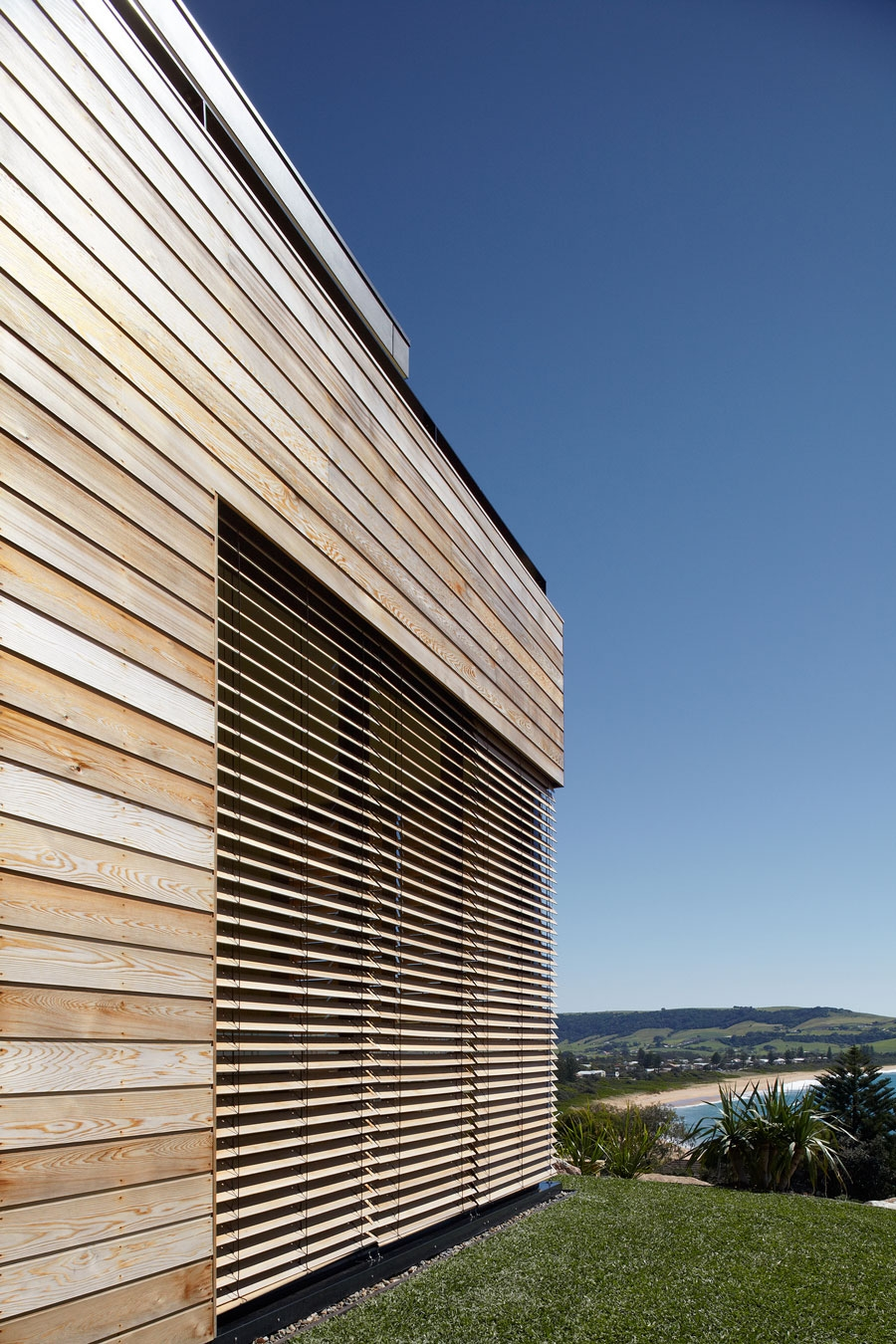 A closer look at the timber cladding
