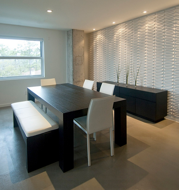 A dining room that seems to embrace the bare minimum!