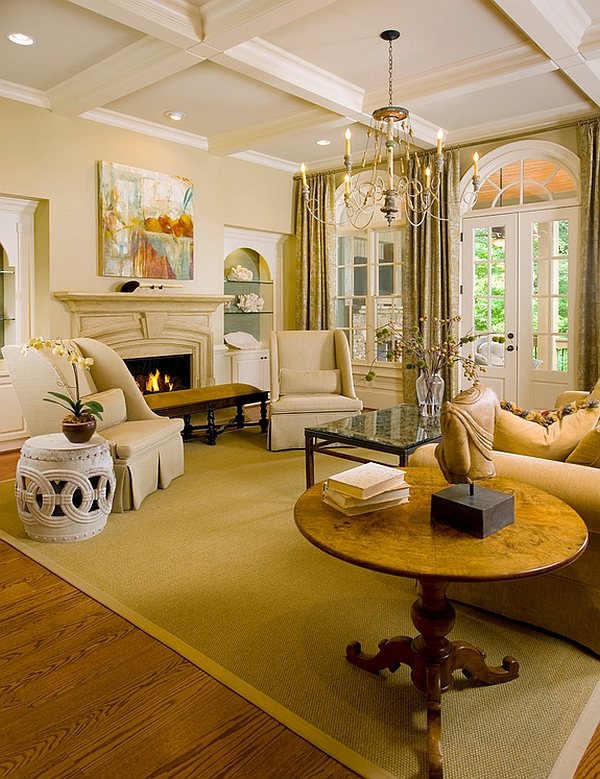 A dreamy living room with warm, inviting ambiance