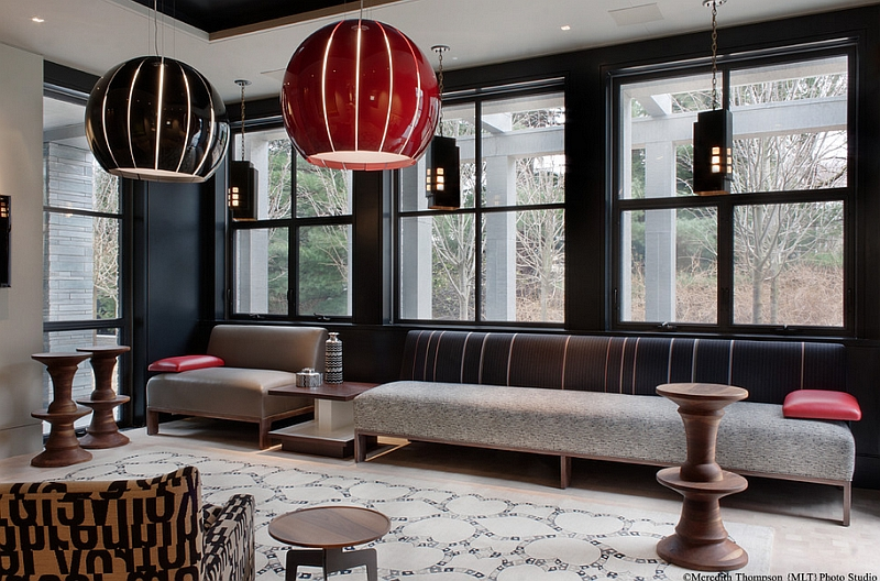 A hint of Moroccan peeks through in this living room