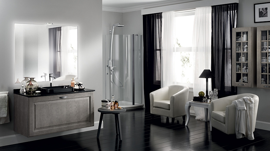 A hint of modern minimalism for the timeless bath