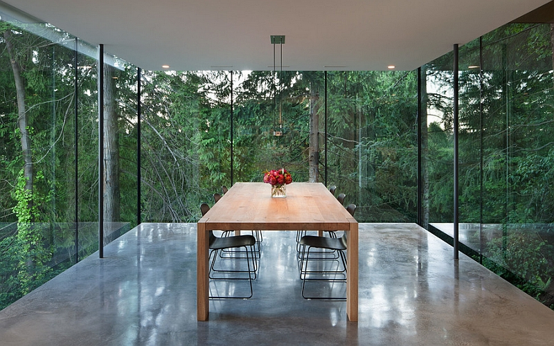 A look at the stunning minimal dining room from the inside