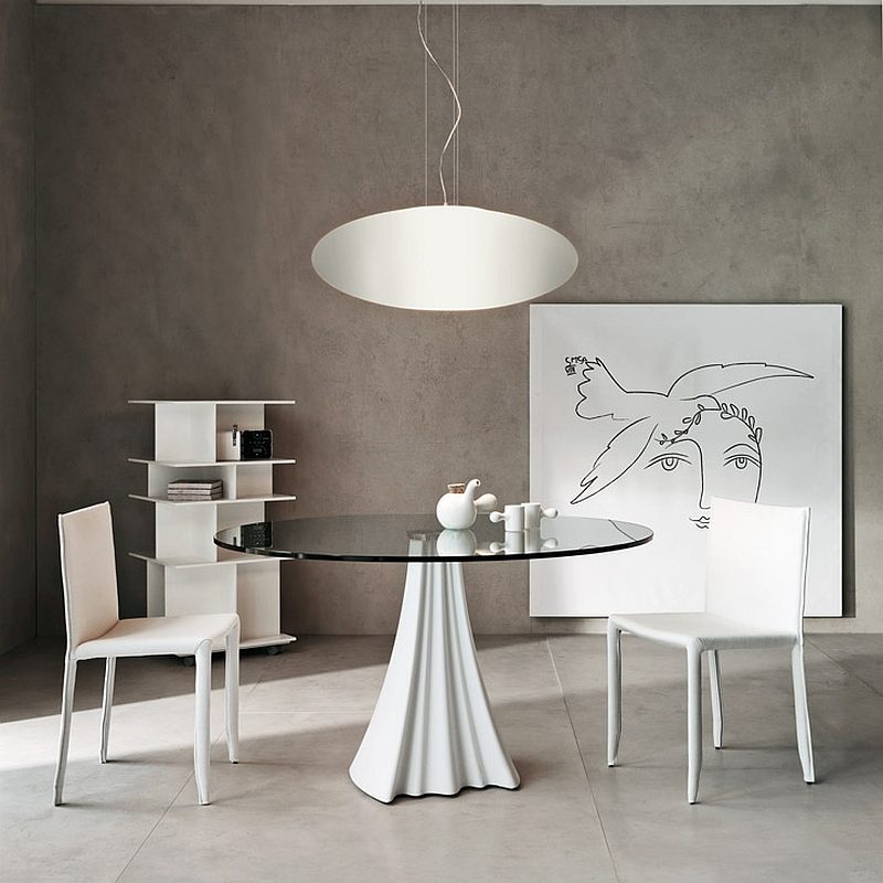 A touch of whimsical charm with a sculptural dining table