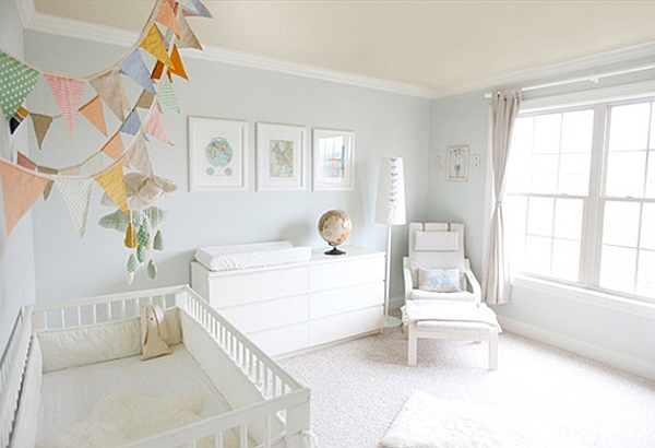 Add color to the chic nursery