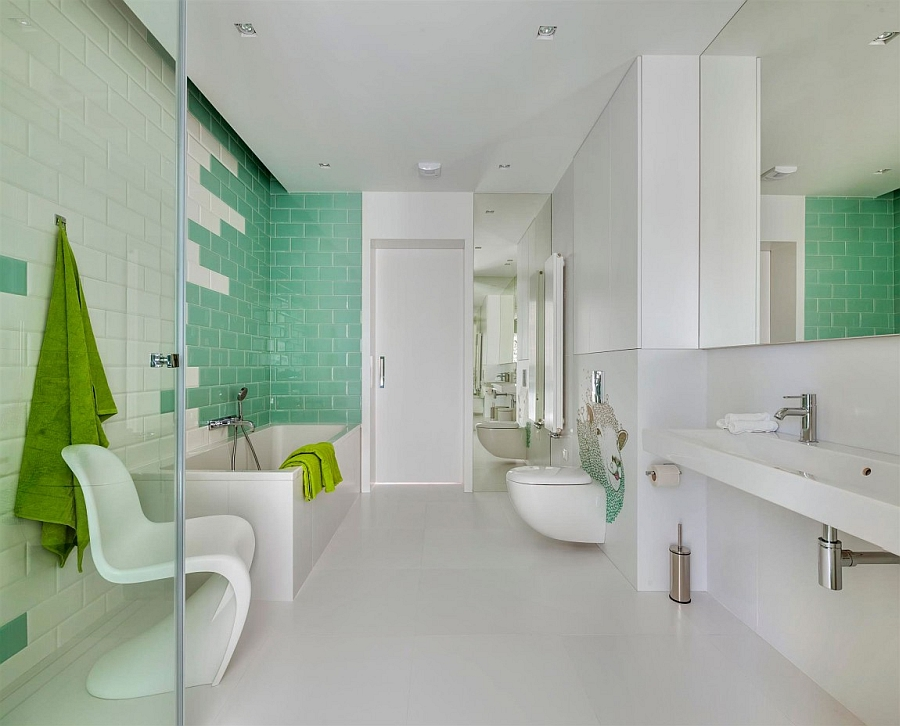 Add rich color to your bathroom with vibrant wall tiles