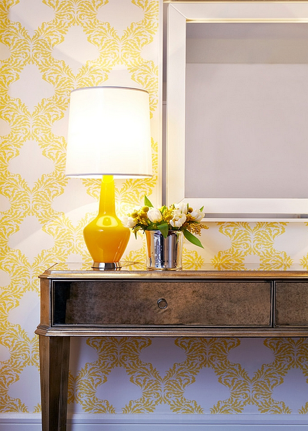 Add some refreshing yellow to the room
