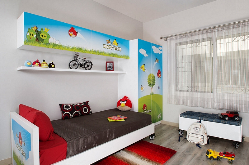 Angry Birds themed boys' bedroom idea