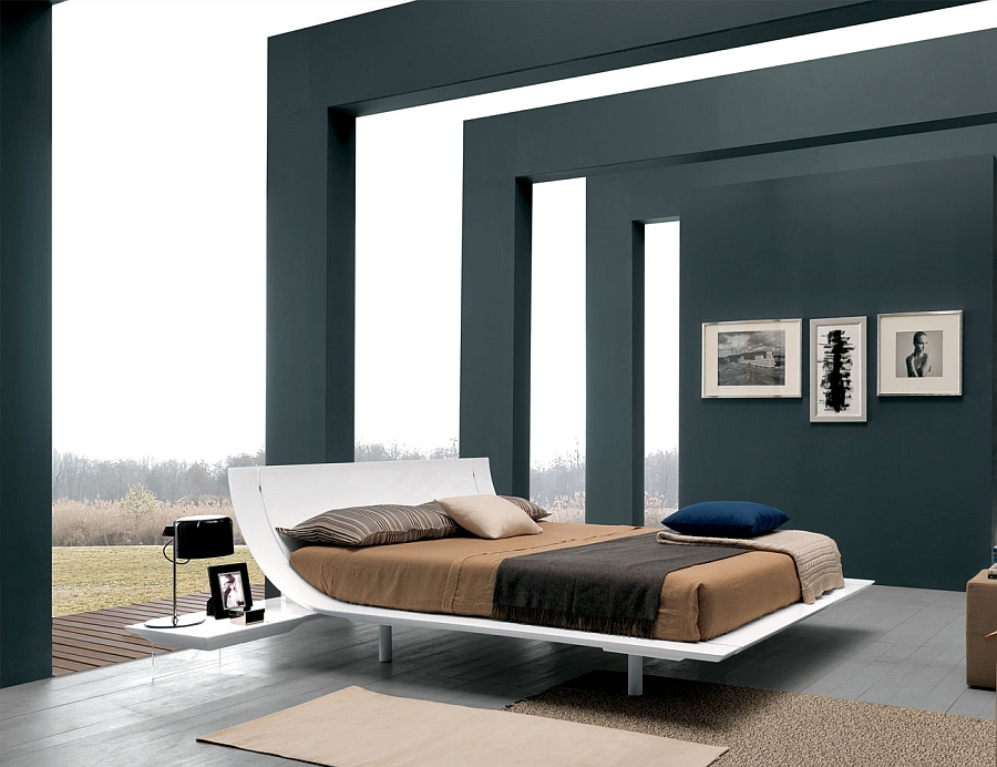 Aqua borrows from the form of the classic sleigh bed Elevate Your Bedroom Style With These Posh Contemporary Beds