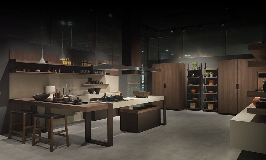 Arts Crafts kitchen with Rustic Charm from Pedini Modern Italian Kitchen Designs: Pedini at Eurocucina 2014