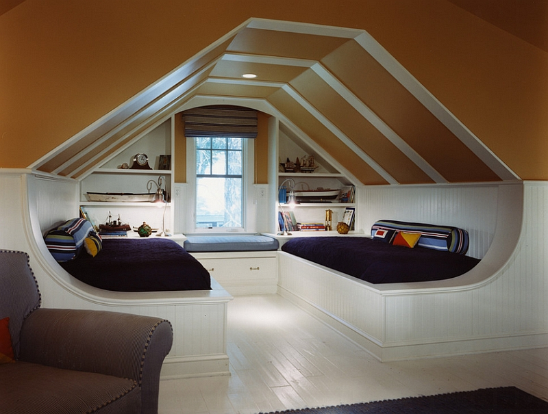 View In Gallery Attic Window Ideas For The Game Room
