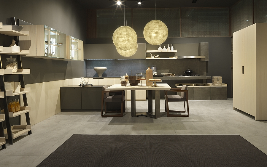 Beautiful and ergonomic urban chic kitchen from Pedini