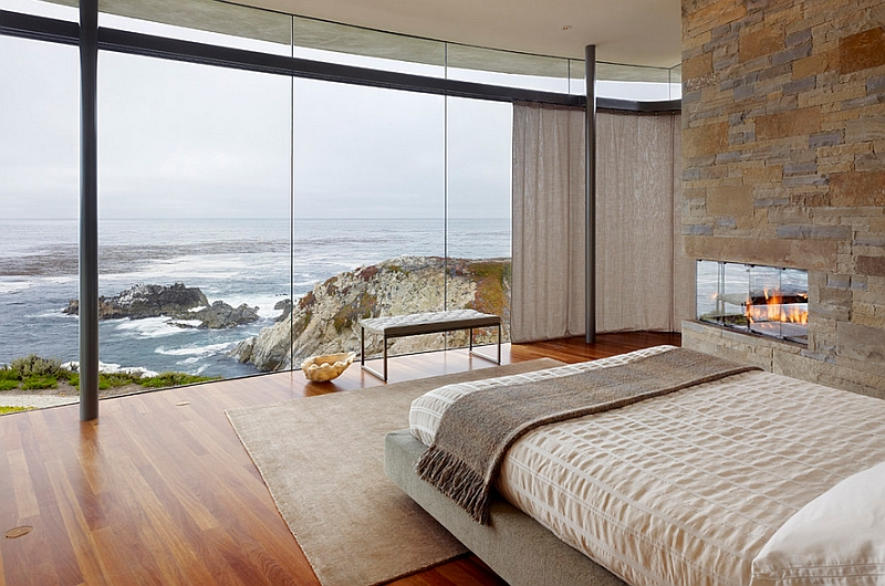 View In Gallery Beautiful And Minimal Bedroom With Ocean Views