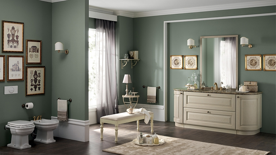 view in gallery beautiful curves and a warm color palette inspire a plush classical style - Bathroom Classic Design