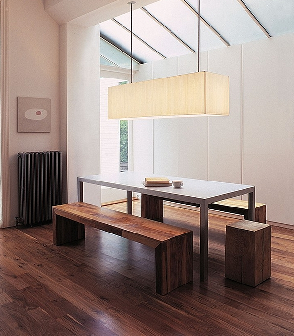 Beautiful dining room with clean and well defined lines