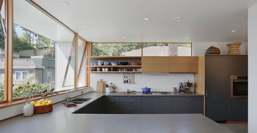 Beautiful kitchen with a window above the kitchen counter