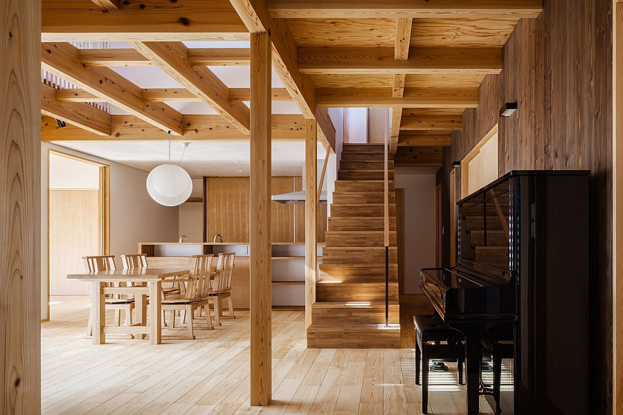 Traditional japanese elements meet modern design at the for Wooden hotel design