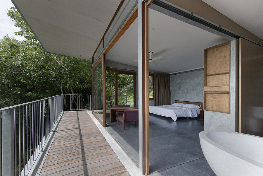 Bedroom with sweeping views of the outdoors