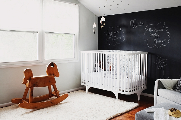 Black and white nursery idea