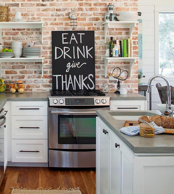 kitchen brick backsplash ideas