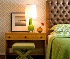 Capri Bottle Lamp in Green for the Bedside Table
