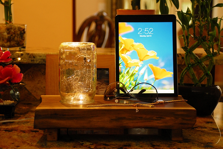 Change your bedside lighting with a simple switch of mason jars!
