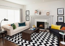 Snazz Up Your Living Room With Smart Chevron Patterns