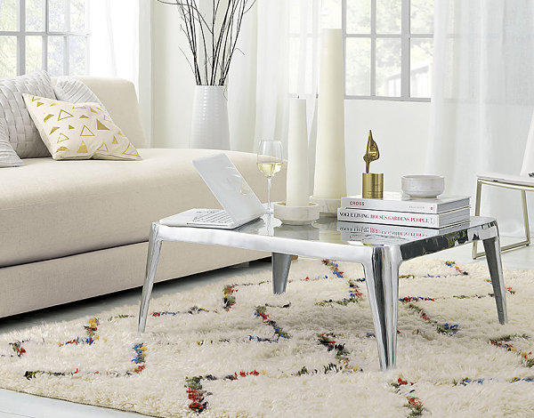 Chic modern metal coffee table