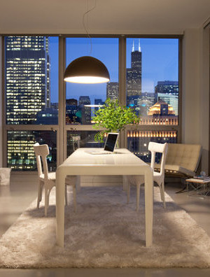 Chicago home office with unique decor