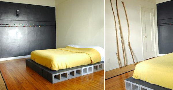 Cinder block bed base