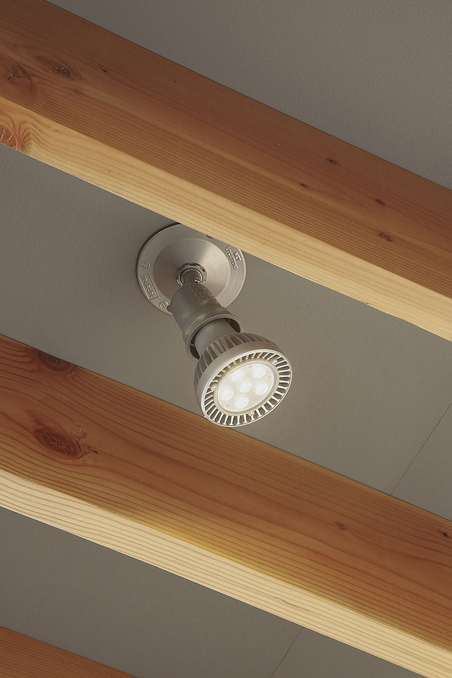 Closer look at the energy-efficinet home lighting installation
