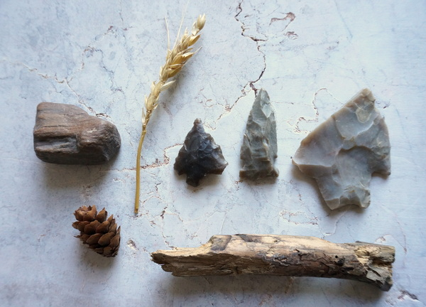 Collection of earthy items