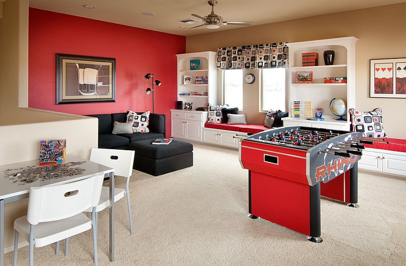Contemporary attic game room idea