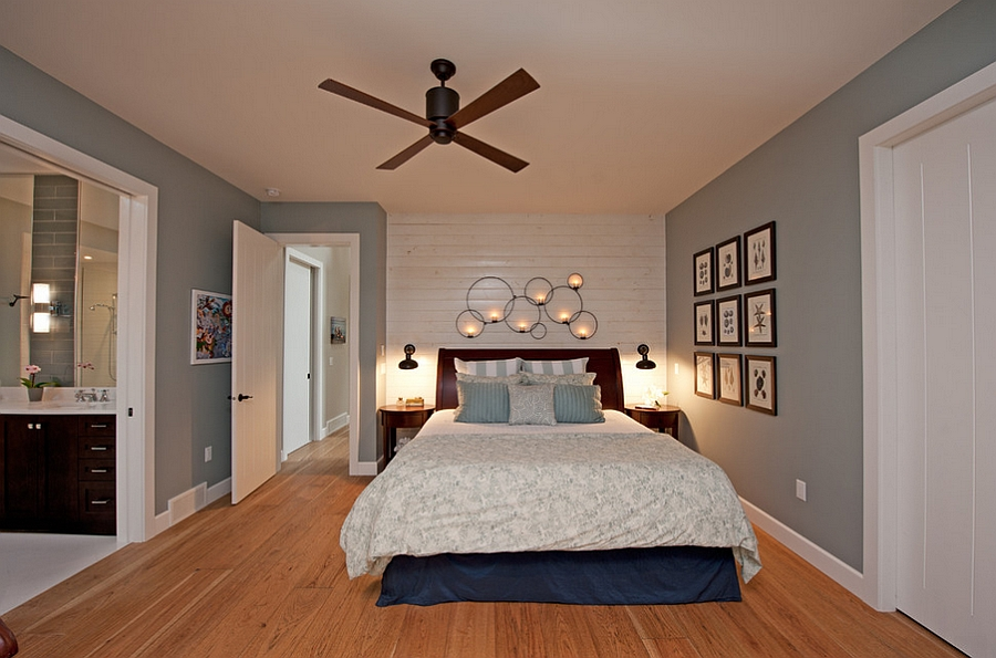 View in gallery Cottage style bedroom blue gray and white Style Home British Columbia