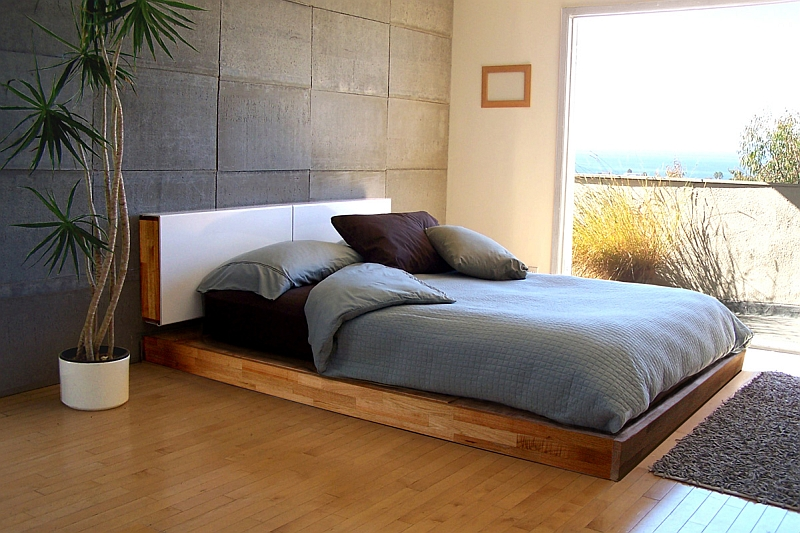 50 minimalist bedroom ideas that blend aesthetics with for Modern minimalist bed