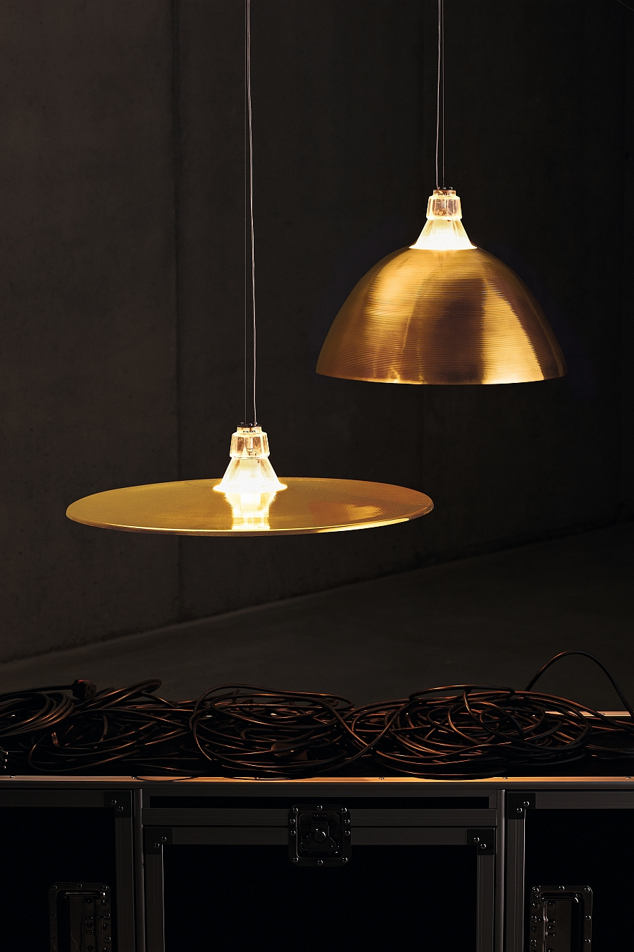 Crash and Bell Lighting set inspired by a drum kit