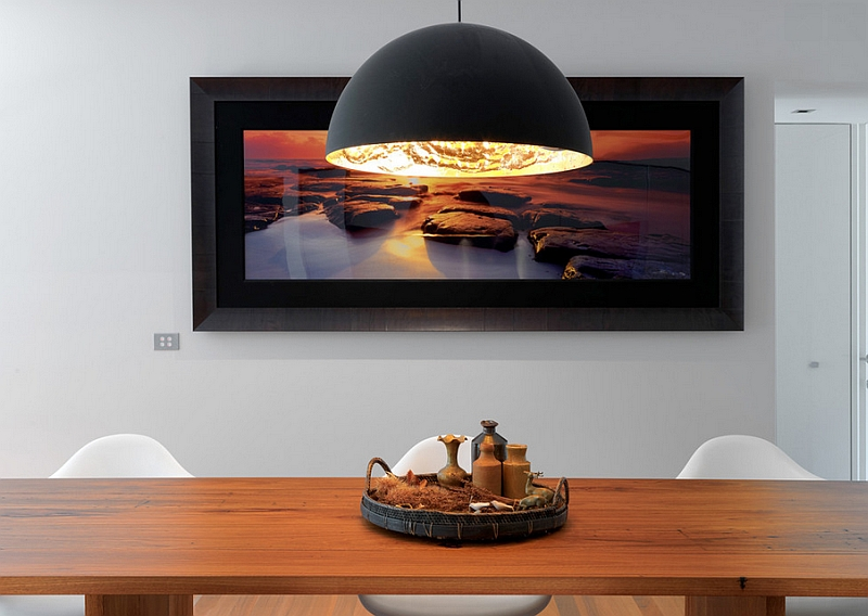 Create an instant focal point with the oversized light fixture