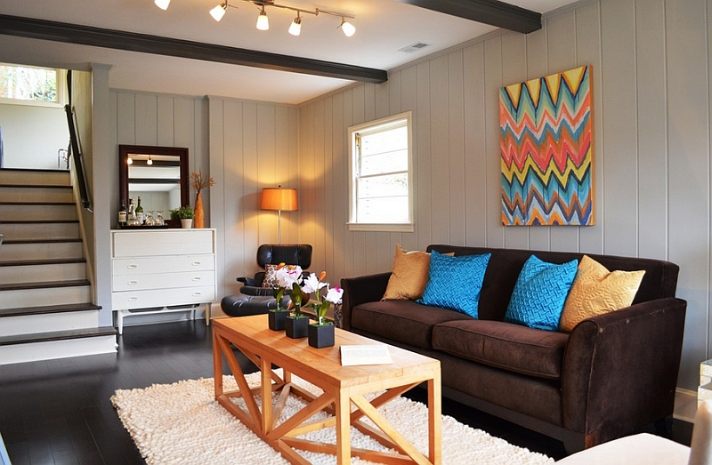 DIY Chevron Wall Art Idea with Plenty of Color