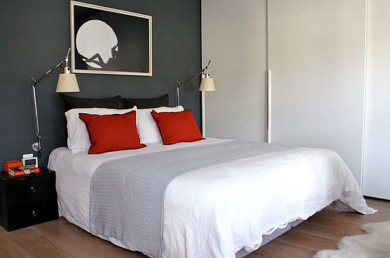 Darker shades of grey can take over from black at times. Bold Black And White Bedrooms With Bright Pops of Color