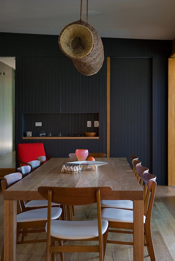 Dining room designed to host big dinner parties