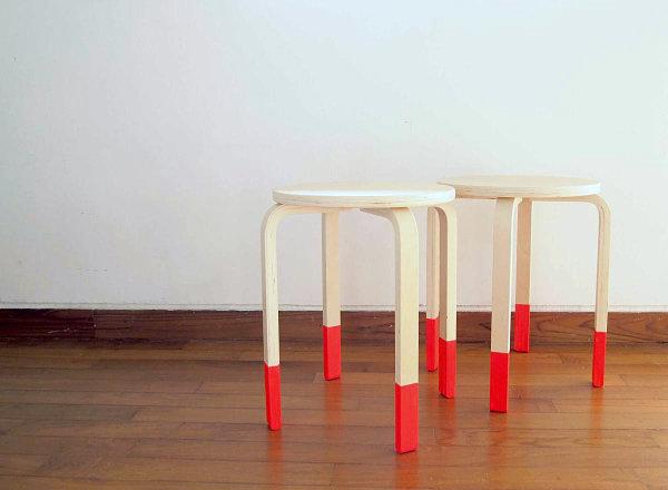 Dip-dyed DIY stool