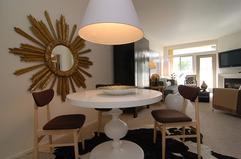 Eclectic dining space for the compact home